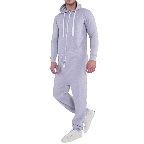 Finchman Herren Jumpsuit Loose Fit Baggy Grau - 3