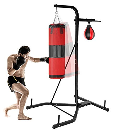 TOUNTLETS Punching Bag Stand Holds Heavy-Duty Boxing Punching Bag Rack Free Standing Boxing Bag for...