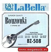 CUERDAS BOUZOUKI - La Bella (BZ508) Juego Completo (Unidades Sueltas) 011/016/028W/040W