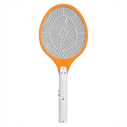 LCYCN Zanzara elettrica Ricaricabile Mosquito Swatter Fly Zanzara Bug Zapper Raquette Moustique Racket Insetti Killer Anti Moustique,Orange