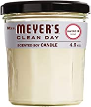 Mrs. Meyer's Clean Day Scented Soy Aromatherapy Candle, 25 Hour Burn Time, Made with Soy Wax, Lavender, 4.9 oz