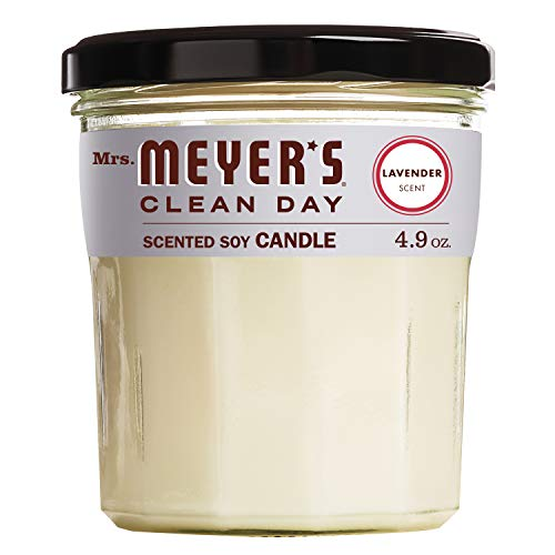 Mrs. Meyer's Clean Day Scented Soy Aromatherapy Candle, 35 Hour Burn Time, Made with Soy Wax, Lavender, 4.9 oz