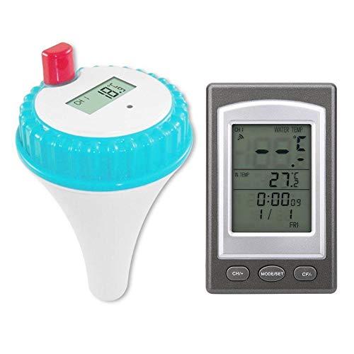 MAGT Piscina Flotante termómetro Remoto inalámbrico Digital de Temperatura del Agua for Gaug al Aire Libre Piscina Cubierta SPA y Bañera