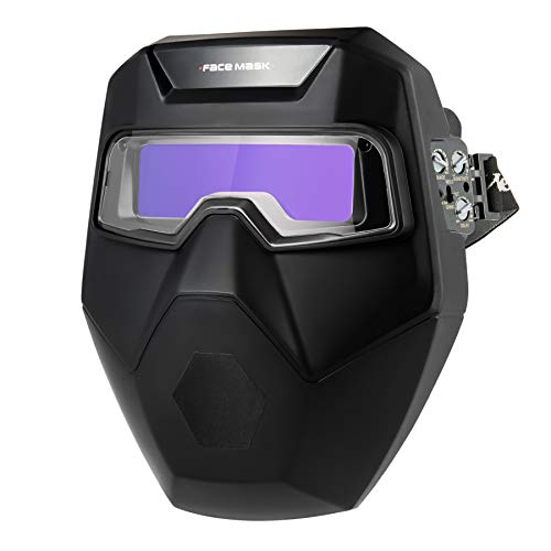 CO-Z Careta para Soldar con 2 Sensores de Arco y Protector Facial Casco de Soldadura Automática con Gafas Careta de Soldar Automatica de Plasma TIG MIG (Desmontable)