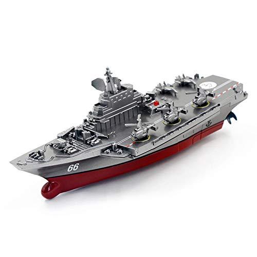 MYRCLMY RC Boat con Control Remoto 2.4Ghz Control Remoto De Control Remoto Portador De Aviones Buque De Guerra Battleship Cruiser Barco De Alta Velocidad RC Racing Toy,D