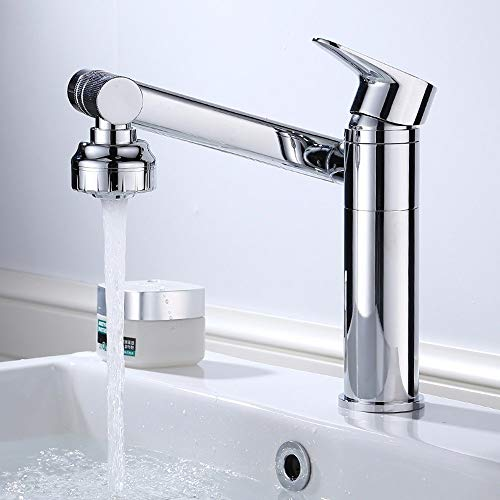 AXWT High End Brand Taps Bathroom Cold Heat Pullable Faucet Bathroom Basin Telescopic Lifting Rotate Vertical Water-tap Height 30 Cm Station Under Tap (Size : 200MM)