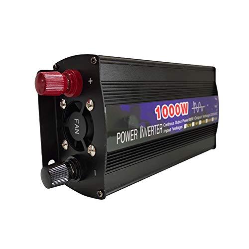 wuxafe 1000W Inversor de Corriente Portatil DC 12V 24V a AC 220V con Monitor, sockets para Coche, cámping