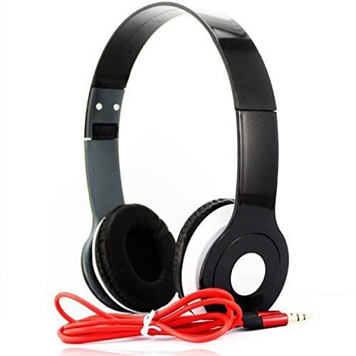 RSFuture Stereo Headphone Noise-Cancelling Microphone | Folding Design | Clear Sound | Powerful bass Response - Black (Black)
