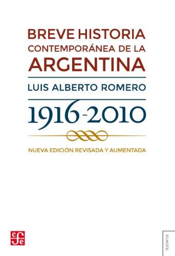 Breve historia contemporánea de la Argentina eBook: Romero, Luis Alberto: Amazon.es: Tienda Kindle