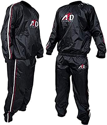 ARD-Champs Heavy Duty Sweat Suit Sauna Exercise Gym Suit Fitness Weight Loss Anti-Rip (XL)