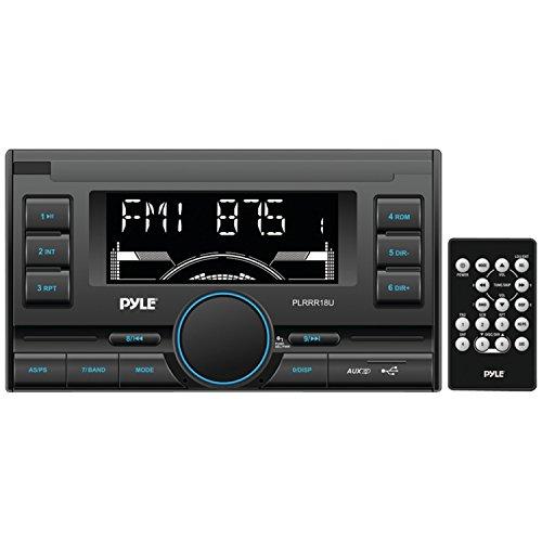 Pyle PLRRR18U Digital Receiver with USB SD Memory Card Readers, AM FM Radio, AUX Input, Remote Control, Double-DIN