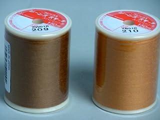 ジーンズステッチミシン糸 オレンジ210 右側 1個 「写真は色見本です」