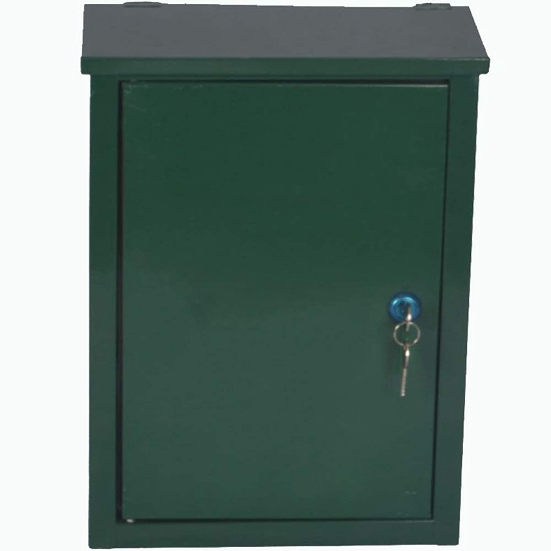 TINGTING 郵便受けア メールボックス ロック付き 純木彫り小さな家中空壁マウント投票箱提案箱レターメール (色 : 緑, サイズ さいず : 26*10*36cm)