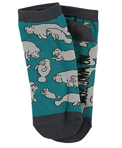 LazyOne Unisex Manatee Erwachsenen Slipper Socken Größe 38-44
