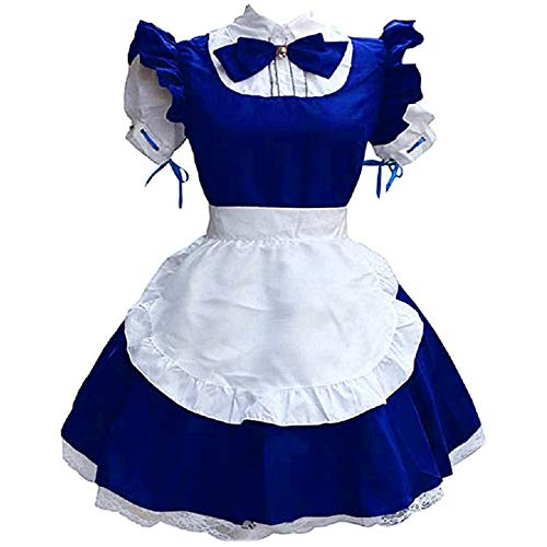 Aniywn Halloween Costumes for Women Japanese Anime Maid Dress Cosplay Sweet Fancy Apron Maid Dress for Halloween Party Blue