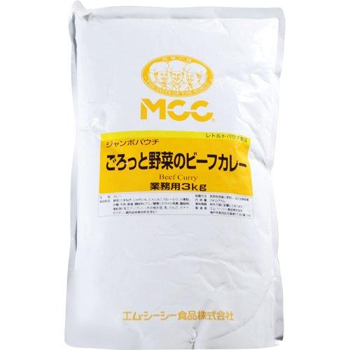 エム・シーシー食品 MCC ジャンボパウチ ごろっと野菜のビーフカレー 業務用 3kg E505649H