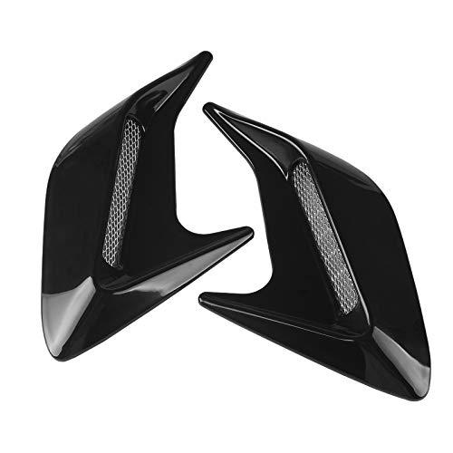 Andux Land Car Vent Grille Cover Decorative Air Flow Intake 2pcs JFK-02 (Black)