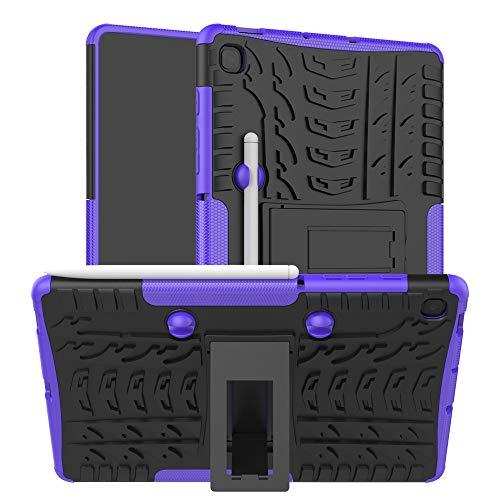 HoYiXi Funda para Samsung Galaxy Tab S6 Lite 10.4 2020 Anti-Drop Estuche de Tableta Cubierta de Doble Protectora con Ranura para Bolígrafo Cover para Galaxy Tab S6 Lite 10.4 SM-P610/P615 - Violeta