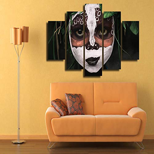 WSNDGWS Home Decor Hd Halloween Schedel Gezicht Patroon Canvas Schilderen Woonkamer Slaapkamer Art Schilderijen Geen Beeld Frame 40x60cmx2 40x80cmx2 40x100cmx1 B3
