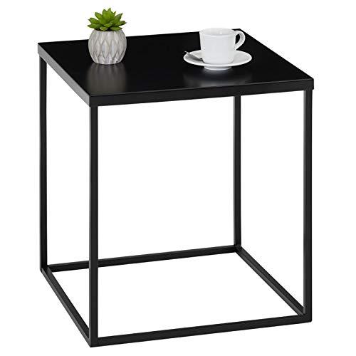 IDIMEX Beistelltisch Sofatisch HILAR 40 x 40 cm, Couchtisch Ablagetisch mit Tischplatte aus Metall schwarz lackiert