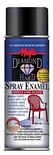 Majic Paints 178841 8-21501-8 Hard Spray Enamel Paint, Aerosol, Gloss Black