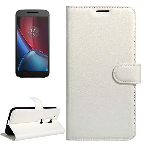 ZAORUN Cubiertas Protectoras de Cellphone Compatible para Motorola Moto G4 play Funda de cuerocon flip horizontal de textura deLitchi con hebilla magnética y soporte y ranura de tarjetas y billeter