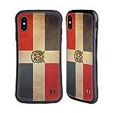 Head Case Designs Dominikanische Republik Dominikanisch Vintage Fahnen 3 Hybride Huelle kompatibel mit iPhone XS Max