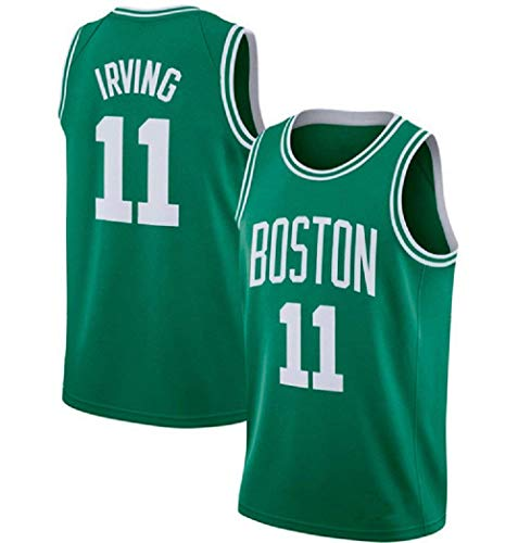 JINHAO Herren Basketball Trikot NBA Boston Celtics #11 Kyrie Irving Mesh Basketball Swingman Trikot (Grün1, XL)