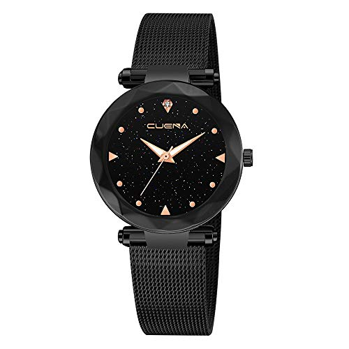 Neuer Trend Damen Klassisch Armbanduhr, Frauen Einfache Modisch Uhren Analoge Mesh Uhren für Frauen mit Edelstahl Band Uhr Armband LEEDY
