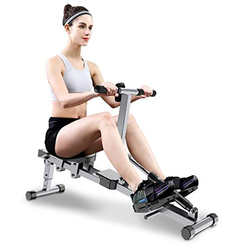 Great Features Of iLXHD Adjustable Household Metal Aerobic Rowing Machine Foldable Indoor Rower Belt...