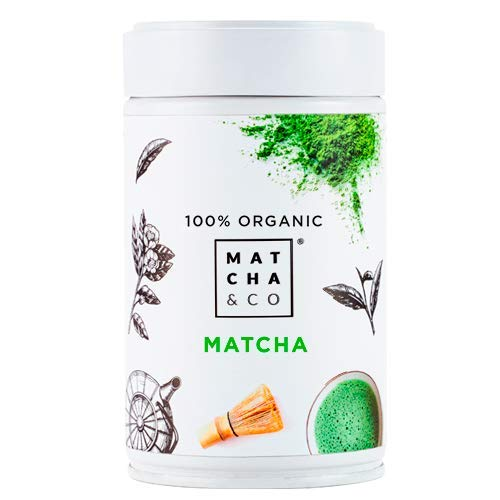 Matcha & CO Thé Matcha 100% Biologique 80 g [Qualité Cérémonielle]. Poudre de thé Vert Biologique du Japon. Thé Matcha Biologique. Thé Vert Matcha 100% Naturel