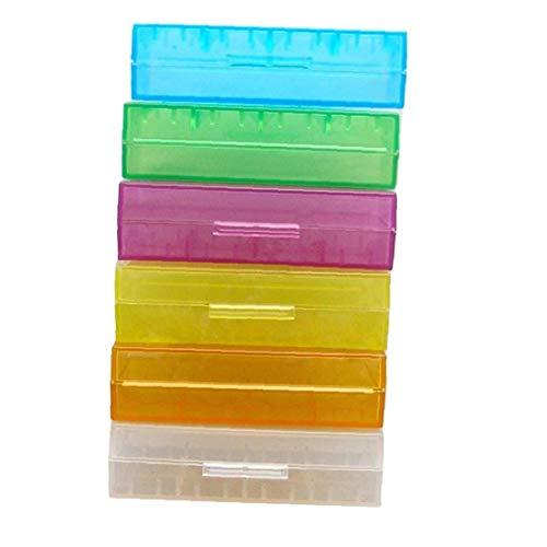 fedsjuihyg 18650 baterías Li-Ion batería de contenedores de Almacenamiento Organizador del Caso de la Caja de plástico - Color al Azar 5pcs