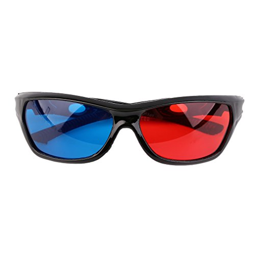 3D Glasses,Universal 3D Glasses Black Frame Red Blue 3D Visoin Glass for Dimensional Anaglyph Movie Game DVD Video TV