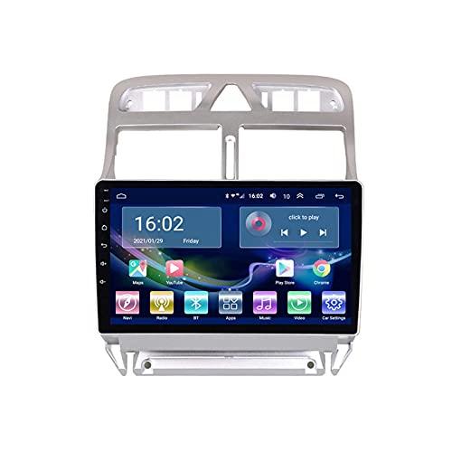 BEHOSE Radio De Coche para Peugeot (307) 2002-2013, Radio De Coche Estéreo De Coche Bluetooth Reproductor De Video para Automóvil HD Digital Mp5 De 9 '' Pantalla Táctil, Android 10