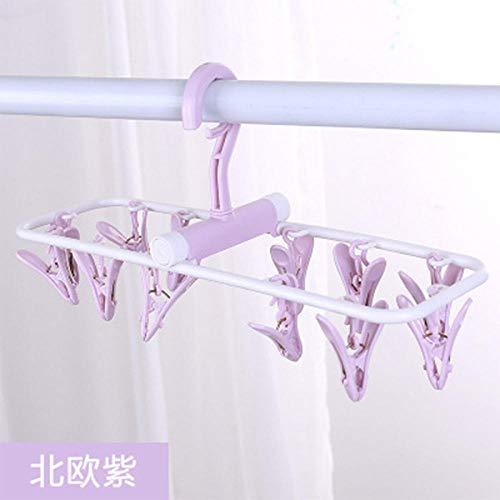 2 verpakkingen balkon multifunctioneel 12 clips dames ondergoed sokken wasrek kunststof huishouden draagbare vouwbroek rek dashouder