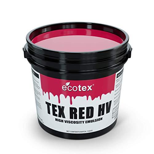 Ecotex Tex Red HV High Viscosity Textile Screen Printing Emulsion Quart - 32 oz.