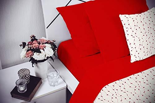 Elegant Cl El Rosso 2Pst Completo Letto, Microfibra, Matrimoniale, 250 x 280 cm, 4 unità