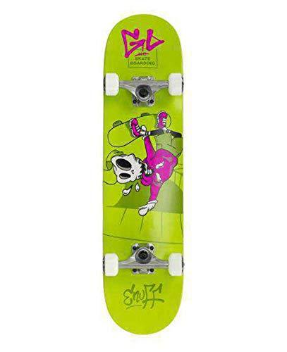Enuff Skateboards Skully Complete Mini Skateboard, Adulti Unisex, Verde (Green), 7.75'
