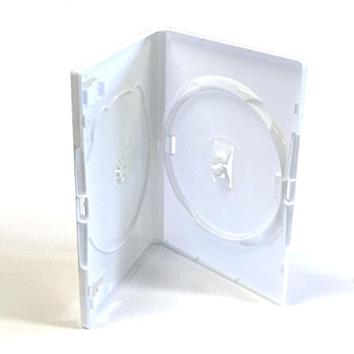 Dragon Trading - Funda doble para DVD/Blu Ray/CD/Wii (50 unidades), color blanco