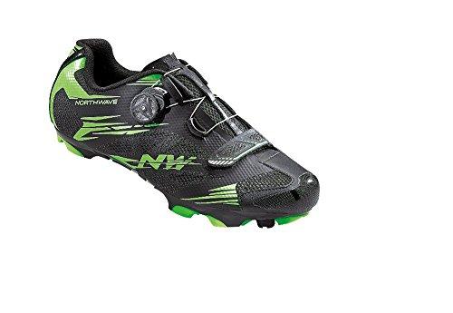 Northwave Scorpius 2 Zapatos y bicicleta de montaña, negro-verde-fluoro, schuhgröße:gr. 45