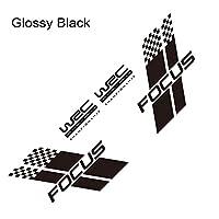 HXKGSMG カーファッションデカールステッカーカバーキズオートレーススポーツスタイリングビニールフィルムデカールカー両面ボディステッカースタイリッシュ。 にとってフォードフォーカス23 MK2MK3カーチューニングアクセサリー用 (Glossy Black)
