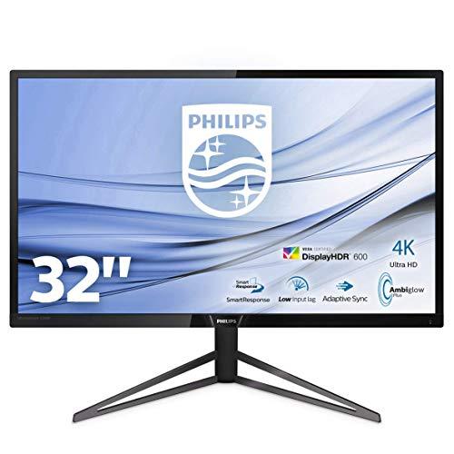 Philips 326M6VJRMB/00 80 cm (31,5 Zoll) Monitor (HDMI, USB Hub, DisplayPort, Ambiglow, 4ms Reaktionszeit, 3840 x 2160, 60 Hz) schwarz