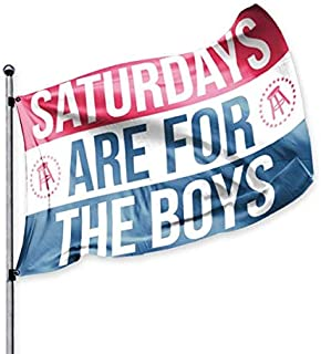SATURDAYS ARE FOR THE BOYS Official Flag, Barstool Sports, 3x5 Foot, Durable & Fade Resistant, Perfect for Tailgates Dorms College Football Fraternities Parties