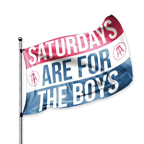 Barstool Sports Saturdays are for The Boys Official Flag, 3x5 Foot, Durável e Resistente ao Desbotamento, Perfeito para Festas de Futebol Americano Tailgates Dorms College