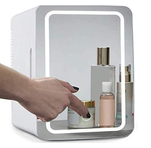 Phil Beauty Mini Frigo Frigorifero Personale 8L Luce A LED Specchio Cosmetico Piccolo Frigorifero Pulsante A Sfioramentoutilizzato in Latte Materno, Famiglia E Viaggi,19.5X 26X28cm