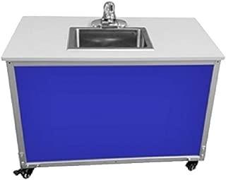 Monsam PSE-2006I Blue Preschool and Childcare Single Basin Portable Sink, 27