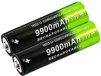 2/4/8個18650バッテリー3.7v / 9900mahバッテリー充電式バッテリーIcr18650リチウムイオンバッテリー用1800サイクルパワーバンク用バッテリースペアヘッドライト懐中電灯-8個-2_pieces