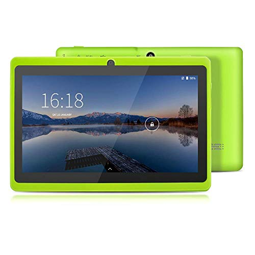 Tablet 7 Pollici, YUNTAB Android Wifi PC,1 GB RAM + 8 GB ROM, CPU Quad Core 1.5GHz, HD Touchscreen,Dual Camera Bluetooth OTG Google Play(Verde)
