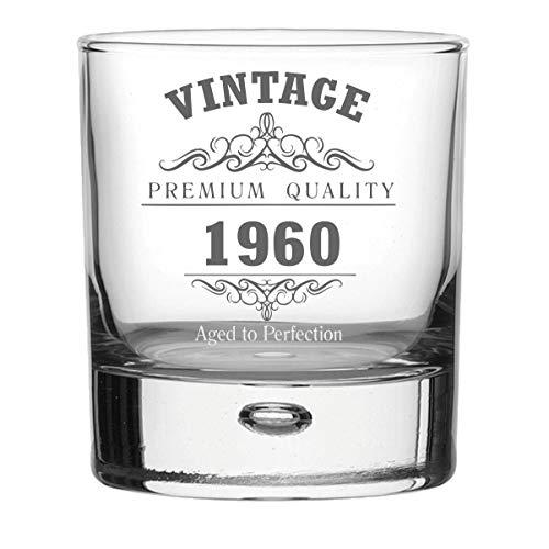 Vintage 1960 60e verjaardag Bubble Base Whisky glas