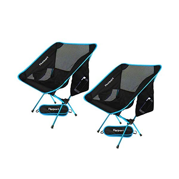 FBSPORT Lightweight Folding Camping Backpack Chair 1 Pack/2 Pack Compact & Heavy...